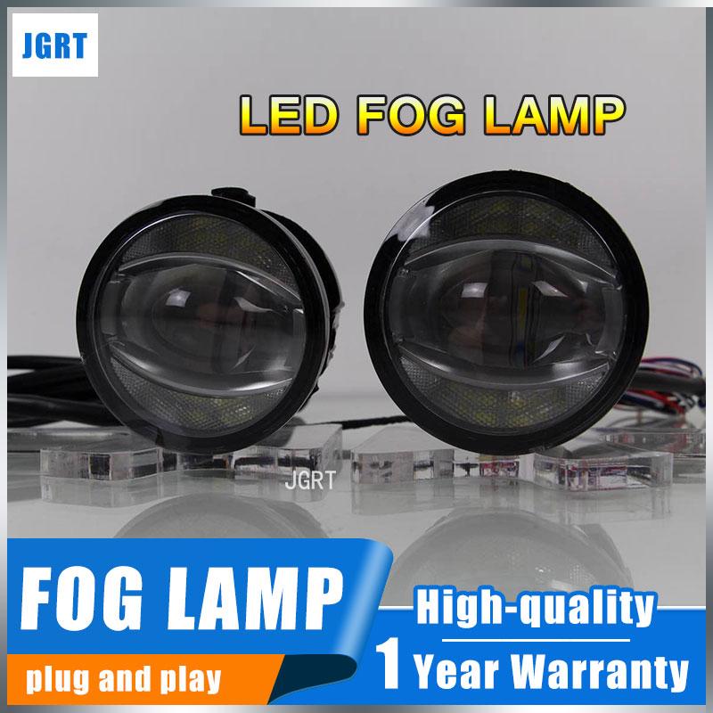 JGRT 2010 For Land Rover Range Rover fog lights+LED DRL+turn signal lights Car Styling LED Daytime Running Lights LED fog lamps