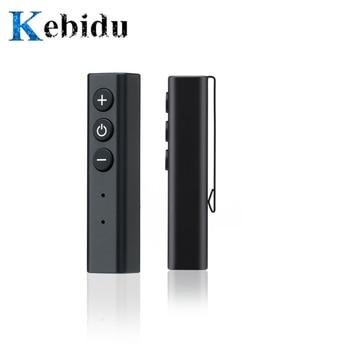 Kebidu clip de bolígrafo Bluetooth 4,0 receptor adaptador de auriculares para iPhone Xiaomi manos libres inalámbrico adaptador de música para auriculares con cable