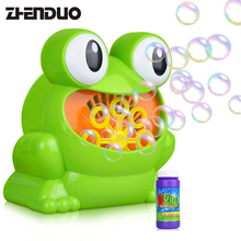 New Cute Cartoon Frog Automatic Bubble Machine Blower Maker Party Summer Outdoor Toy for Kids
