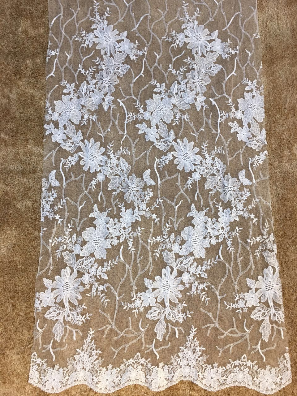 Hot French Nigerian  embroidery net lace,African tulle mesh lace fabric high quality for party wedding dress