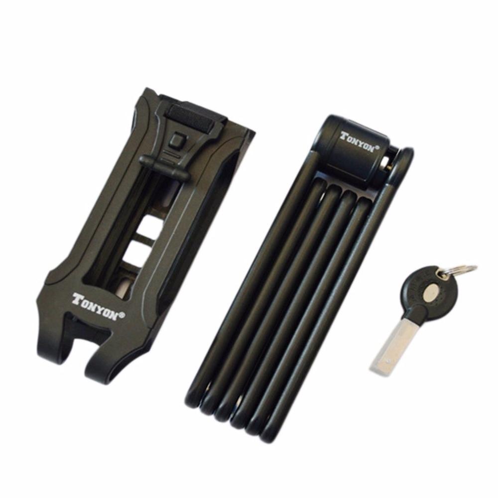 Ultra Strong Folding Harden Steel Lock Alloy Metal Bone Bicycle Lock Foldable Ensure Security Anti-theft Mountain Bike Lock