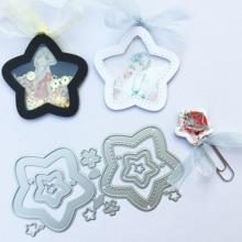 Pentagram Star Metal Cutting Dies Birthday gift for DIY Scrapbooking Album Paper Cards Decorative Craft Embossing Die cut
