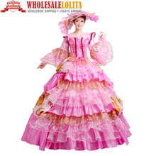 HOT!! Global FreeShipping 18th Century Marie Antoinette Belle Dress Rococo Princess Gowns