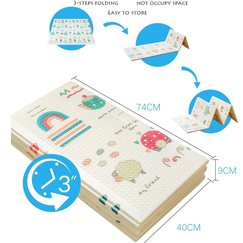 Tapis de jeu brillant pour bébé 180*200 cm Portable pliant bébé tapis d'escalade tapis en mousse XPE environnement salon jeu couverture - 2