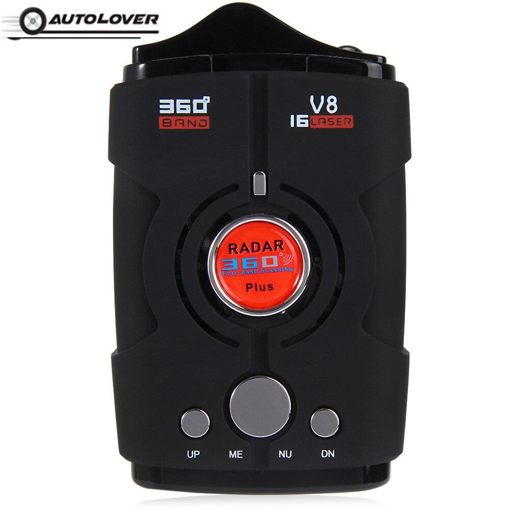 V8 Anti Radar Detector Russian / English Version Voice Alert Warning 16 Band 360 Degrees LED Display Car Speed Voice Alert видеорегистратор alert anvr 800