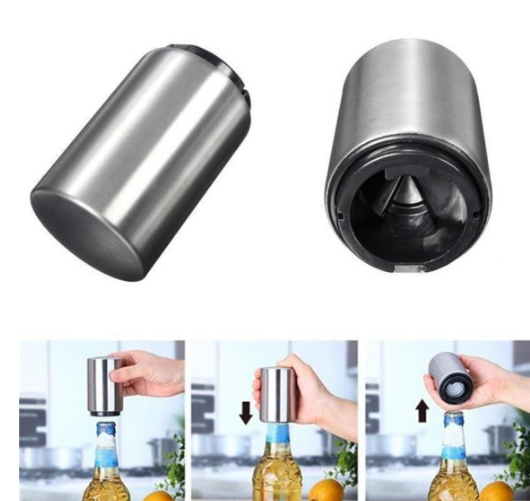 2019 New Trump 2020 Portable Magnetic Automatic Bottle Opener Stainless Steel Wine Beer Openers Best Gift Item in Openers from Home Garden
