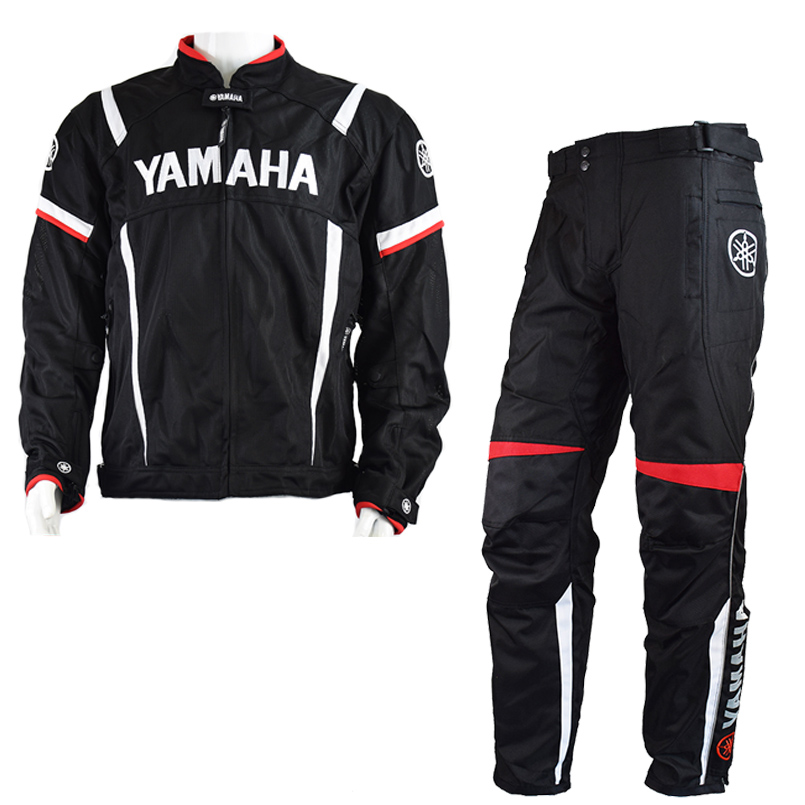 Moto GP 2018 Summer For Yamaha Jacket Winter Motorcycle Racing Pants Jackets For Men Chaqueta Suit Protector Pads Motor Trousers
