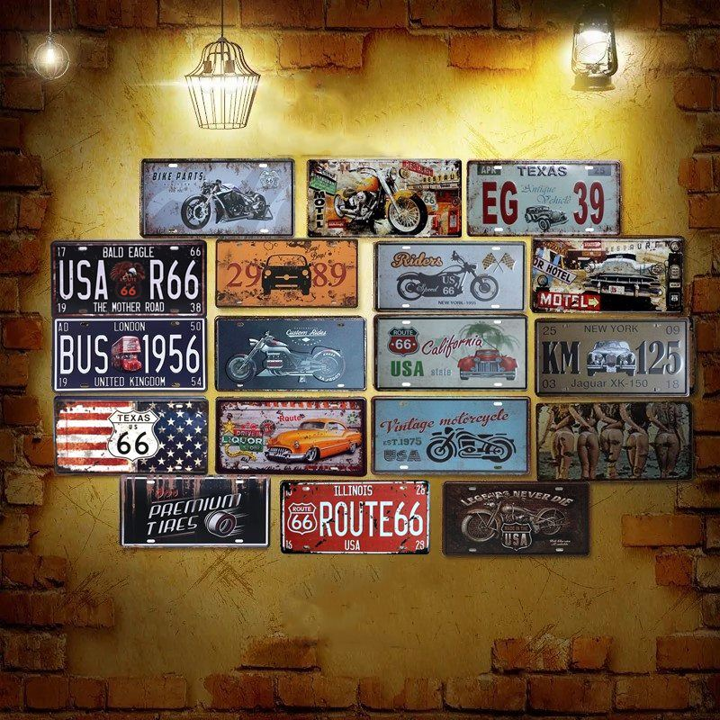 New York 911 Metal Tin Sheet Sign Vintage Picture Wall Decor Plaque for Home Bar
