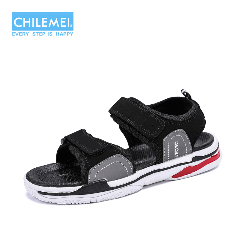 Summer Breathable Mens Sandals Wear Resistant Anti-skid Beach Shoes Mens Tide Slippers Autumn Cool Causal School Shoes Sneaker