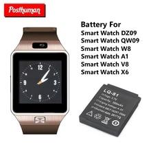 Postuman умные часы с резервной батареей 380 мАч 3,7 в для DZ09 Смарт-часы с перезаряжаемой литий-ионной полимерной батареей