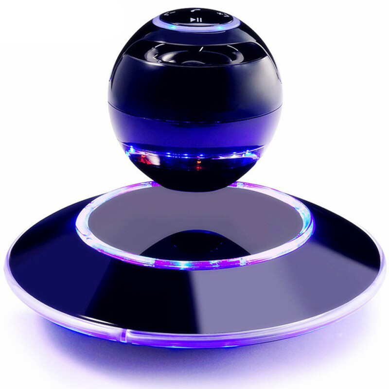 Vwar Portable Wireless Floating levitating speaker Orb bluetooth wireless stereo rotating 360 degree speakers Magnetic t050 3w mini portable retractable stereo speaker w tf black golden 16gb max