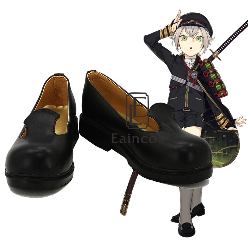 Popular Game Touken Ranbu Online Hotarumaru Black Cosplay Party Shoes Custom Made