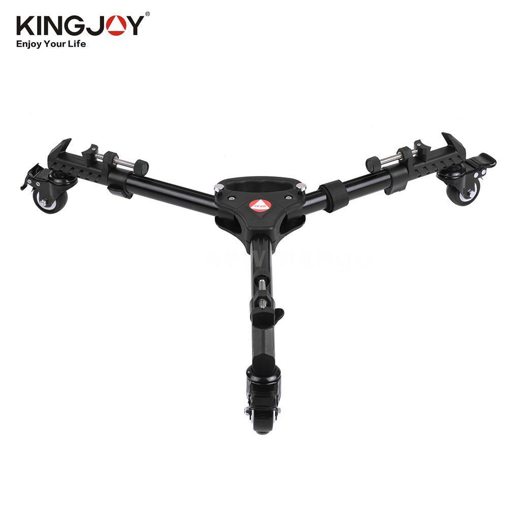 KINGJOY VX 600 Universal Professional Photography Heavy Duty Tripod Dolly with Wheels Adjustable Leg Mounts for