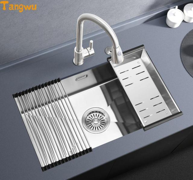 Aliexpress.com : Buy Free shipping single trough 304 thick stainless ...