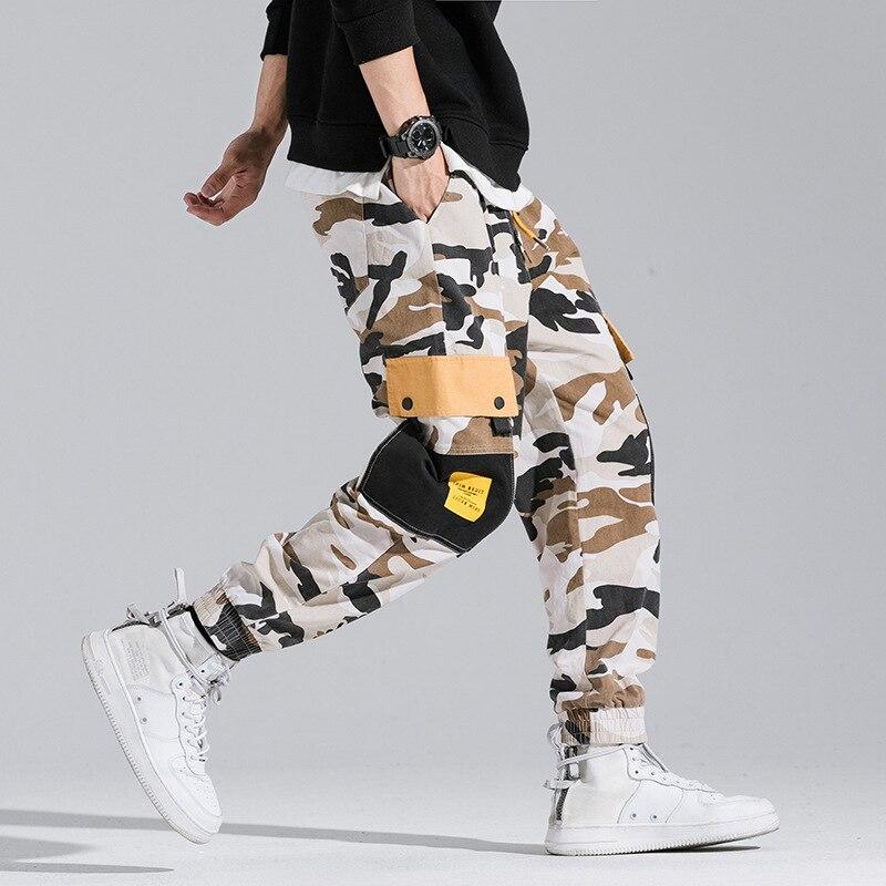 High Quality Cotton Camouflage Pants Fashion Haren Pants Men Skateboard Hip Hop Original Design Multi Pockets Trousers Men