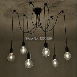 6 głowice bajki rozpraszania kwiaty pająk kreatywny lampa światło dla biura Cafe Restaurant Bar darmowa wysyłka PLL 71|lighting for office|light forlamp light -