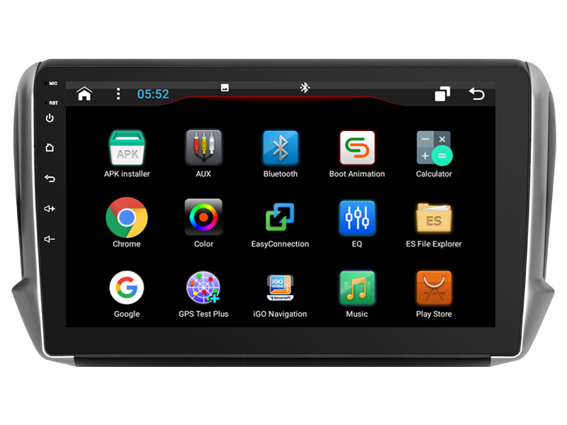 US $255 3 26% OFF OTOJETA DSP stereo carplay android 8 1 car radio for 2018  Peugeot 2008 bluetooth car accessories Gps navigation tape recorder-in Car