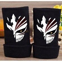 2017 Anime Bleach Cotton Glove Fingerless Cartoon Kurosaki ichigo Figure Print Gloves Mitten Unisex Cosplay Gift Winter Warm