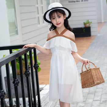 Summer Girls Dress 2018 Teenager Girl Party Dress Chiffon Princess Dresses For Kids Girl Children Clothing 12 Years 10 8 6
