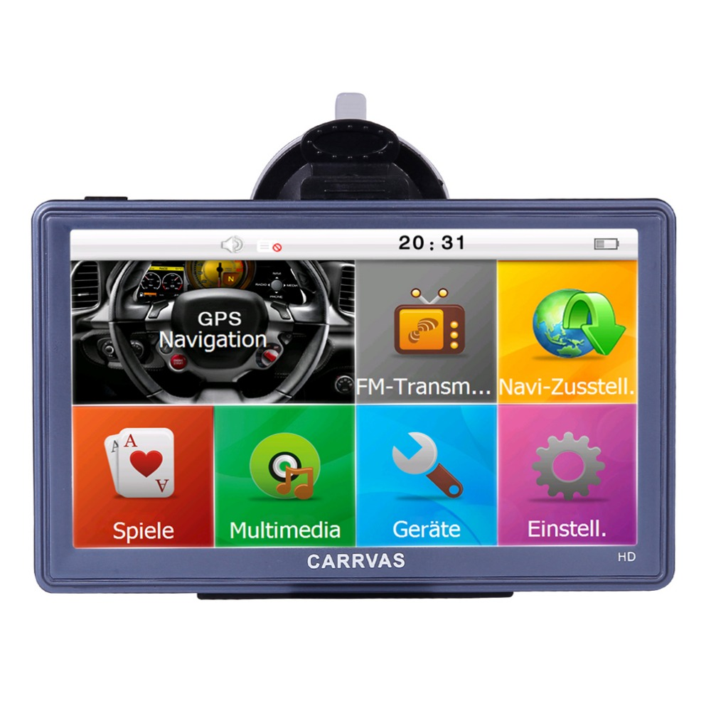 все цены на Carrvas GPS Sat Nav 7 Inch Sat Nav Devices Outdoor GPS Navigation System with Maps for Europe For Truck Car онлайн