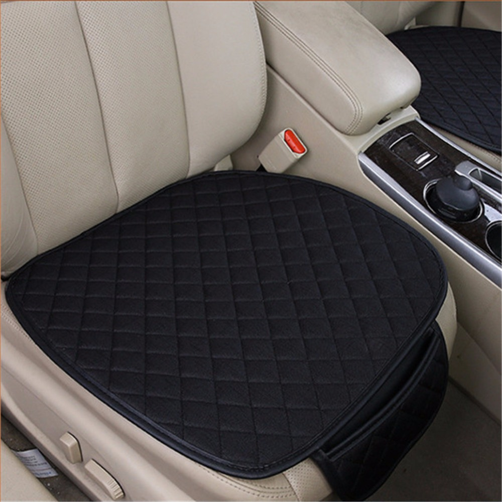 linen car seat covers ventilate comfortable car seat protector pad universal auto front seat. Black Bedroom Furniture Sets. Home Design Ideas