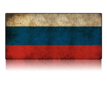 Alfombrilla de ratón grande, alfombrilla de escritorio de Alfombrilla de ratón de goma Natural para jugar antideslizante, resistente al agua, de 90*40CM para bandera rusa