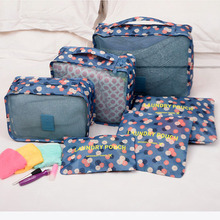 New 6pcs/set Women Men Travel Bag Waterproof High Capacity Luggage Clothes Tidy Portable Organizer Cosmetic Case
