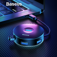 Baseus Multi USB 3 0/Tipo C HUB parágrafo USB3.0 + 3 USB2.0 pará PARA Macbook Pro HUB adaptador pará disco duro de la computadora de