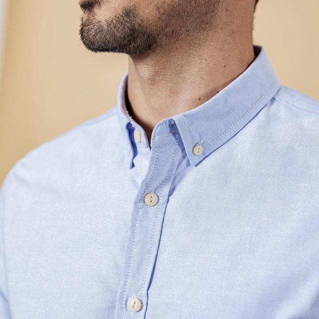 SIMWOOD Brand Men Shirts New 2019 Fashion Long Sleeve 100% Pure Cotton Blouse Slim Fit Plus Size Brushed Oxford Shirt  180569 5