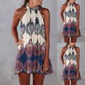 2016 New Sexy Women Summer Off-Shoulder Boho Dresses Fashion Casual Loose Beach Floral Sundress Mini Dress