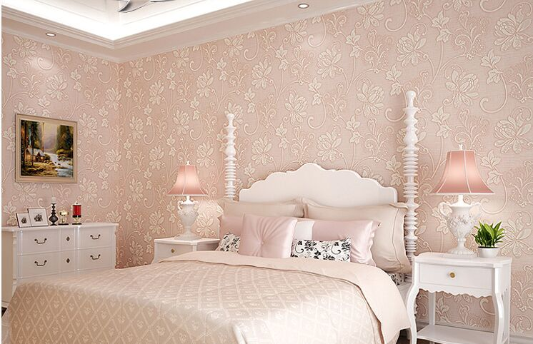 Rosa Tapeten Schlafzimmer | Die schönsten Einrichtungsideen