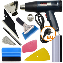 EHDIS Vinyl Car Wrap US/EU/AU Electric Hot Air Gun Heat Gun Carbon Film Squeegee Scraper Cutter Knife Auto Sticker Accessories 1600w electric hot air gun car wrap professional heater tool two tranches thermostat heat gun free gift 2 nozzles