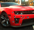 2016 Автомобилей Стайлинг 3D Поддельные Пулевое Отверстие Выстрелов Funny Car Шлем Наклейки Наклейки Эмблема Символ Творческий персонализированные Наклейки