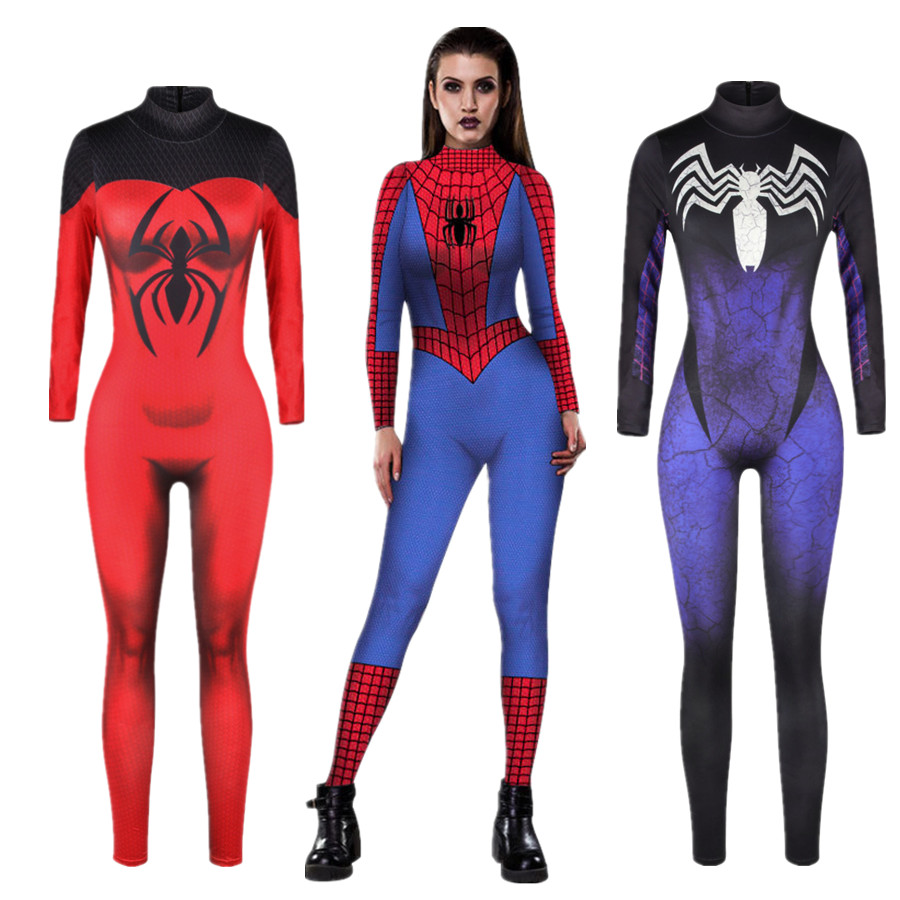 Spiderman Jumpsuit Catsuit Character Sexy Cosplay Costumes -5868
