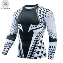 2019 Newest Aquaman 3D Printed T shirts Men Compression Shirt Character Cosplay Costume Long Sleeve Tops For Male Clothing S-4XL