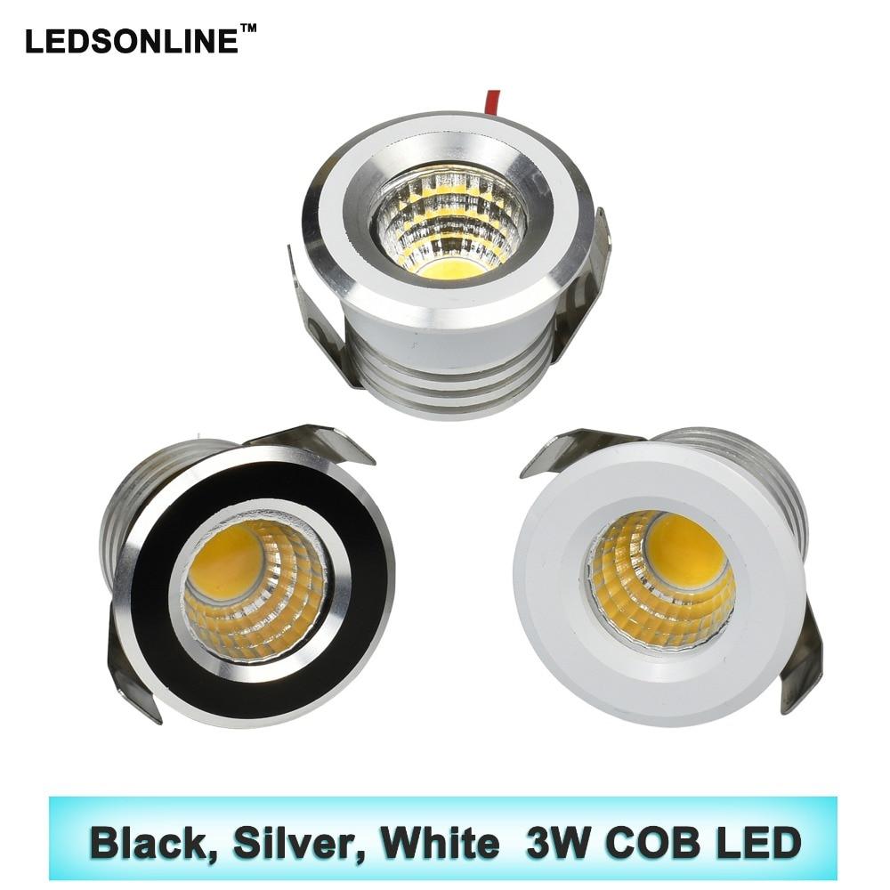 20st / lot COB 3W Under Skåp Spot Light Mini LED Downlights Tak - LED-belysning