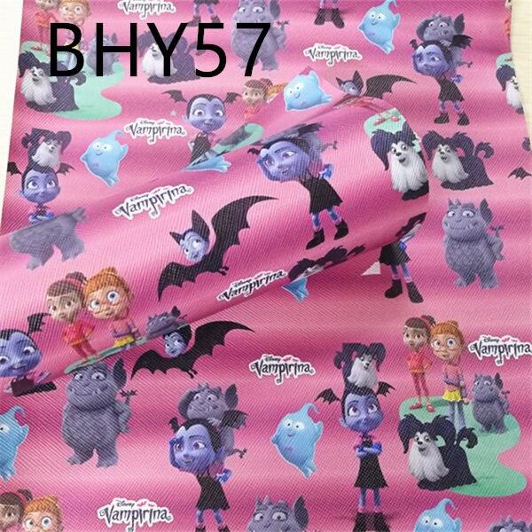 Бесплатная доставка 7,6*12 дюймов с рисунками героев мультфильма синтетический кожаная ткань для DIY аксессуары BHY57