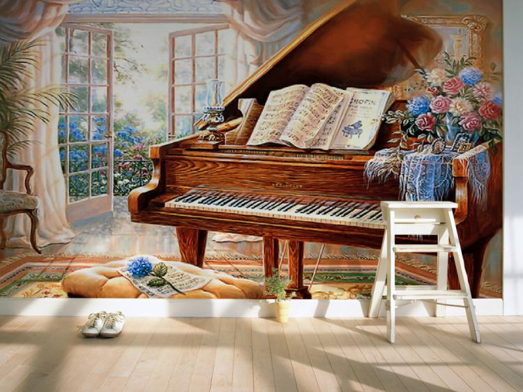 Custom 3d mural Large 3D mural living room sofa TV background wall painting bedroom piano wallpaper mural
