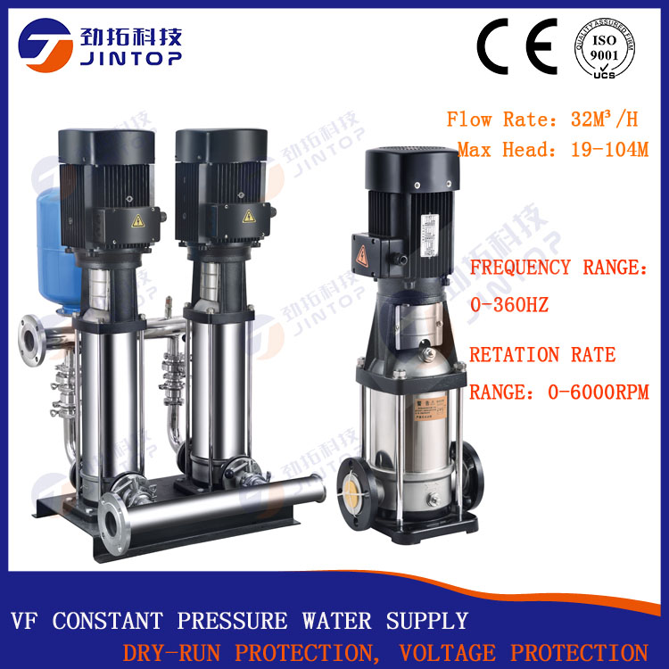 (MODEL JTV32-19) JINTOP SOLAR PUMP Frequency Conversion Multiage Pump Pressure Constant for Cooling and air conditioner systems