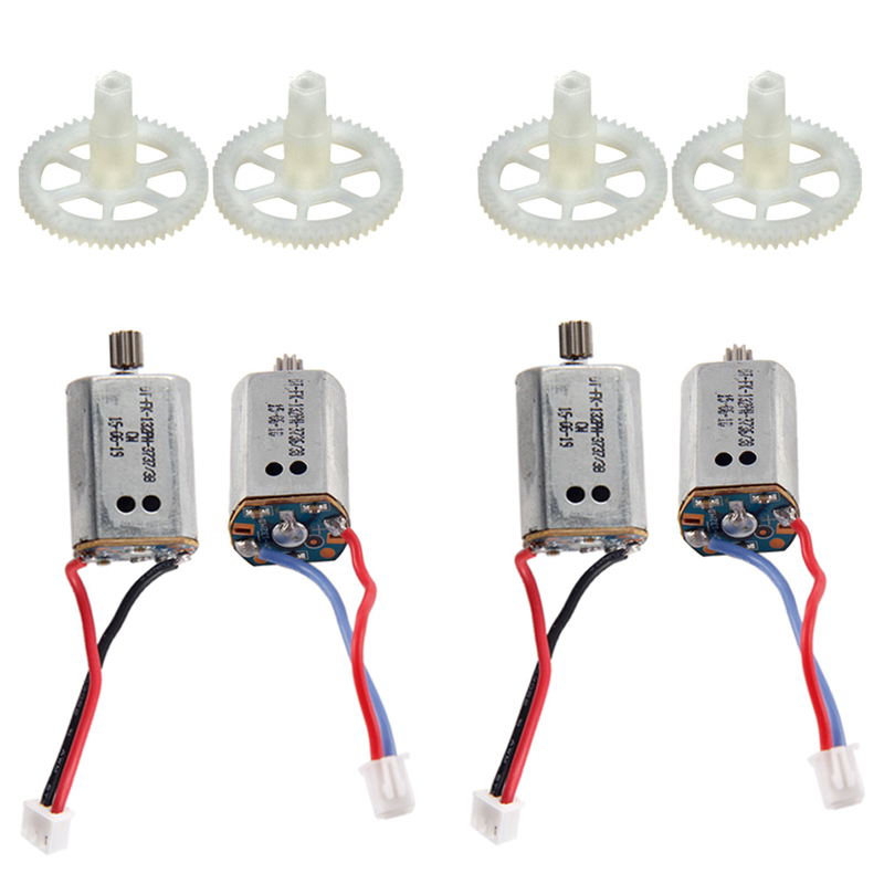 X8C X8W X8G 4pcs Main Gear & 4pcs Main Motors Spare Replacement Repair Parts for RC Quadcopter X8 Series gleaner agco spare parts books and repair manuals 2017
