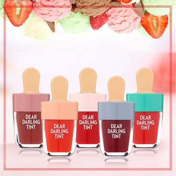 Waterproof Liquid Lipstick Ice-Cream Shaped Dear Darling Lip Tints Makeup Moisturizing Lasting Natural Charming Lip gloss new tints dear darling lip gloss