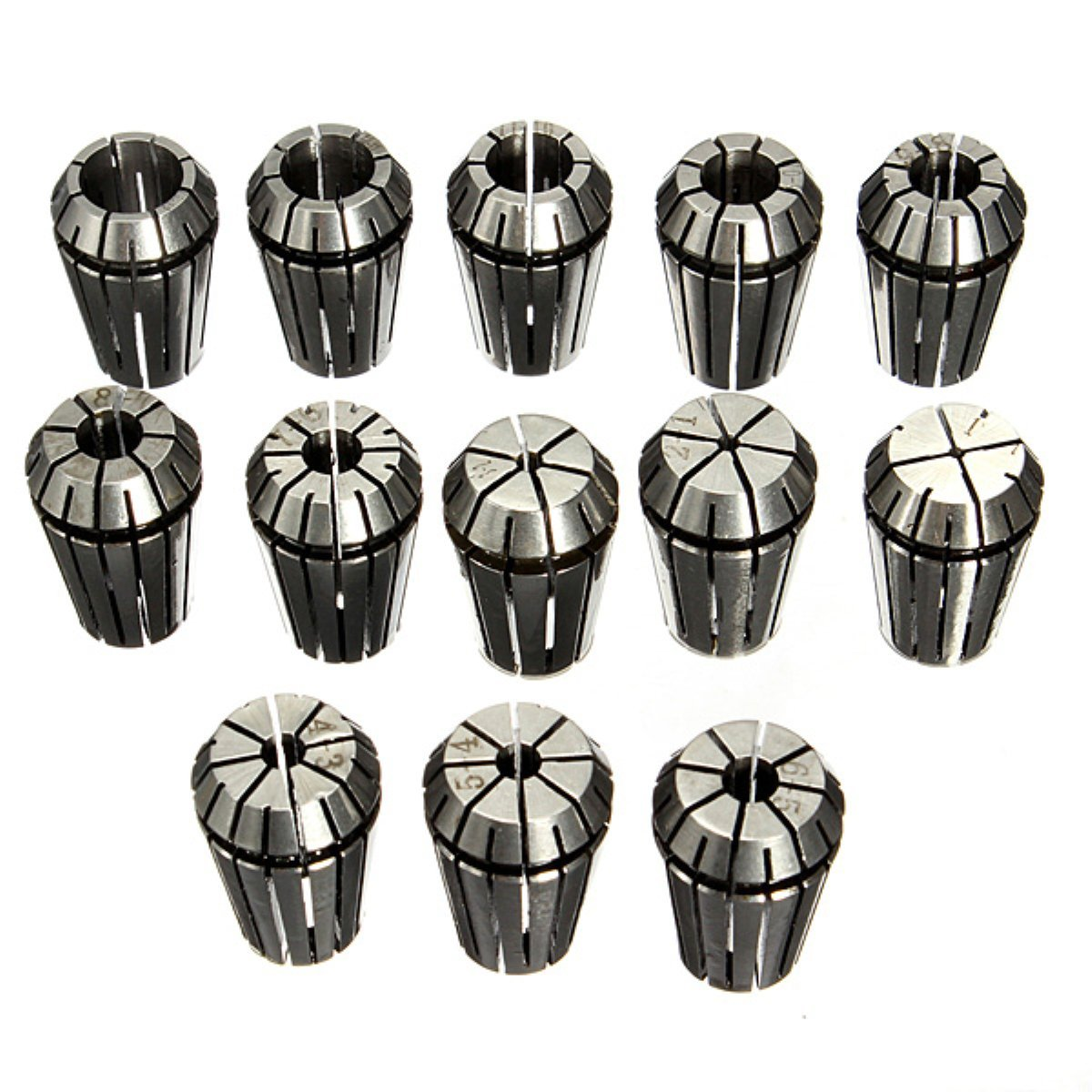 13 pieces ER20 Collets for CNC Milling Machines Tool Engraving Machine unich 600 900 mm engraving and milling machines