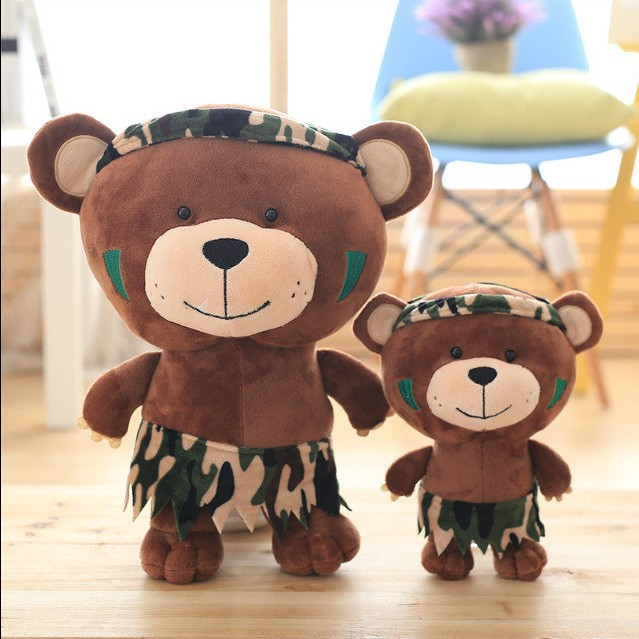 25 38Cm New A Family Of Jungle Cute Bear Camouflage Leopard Pattern ...