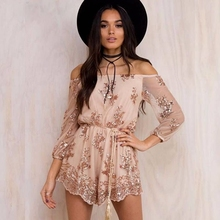 2018 Newest Brand Sexy Boho Women Playsuits Fashion Slash Neck Chiffon Bodysuit  Jumpsuit For Ladies Summer Beach Style Rompers d5d1fba1a