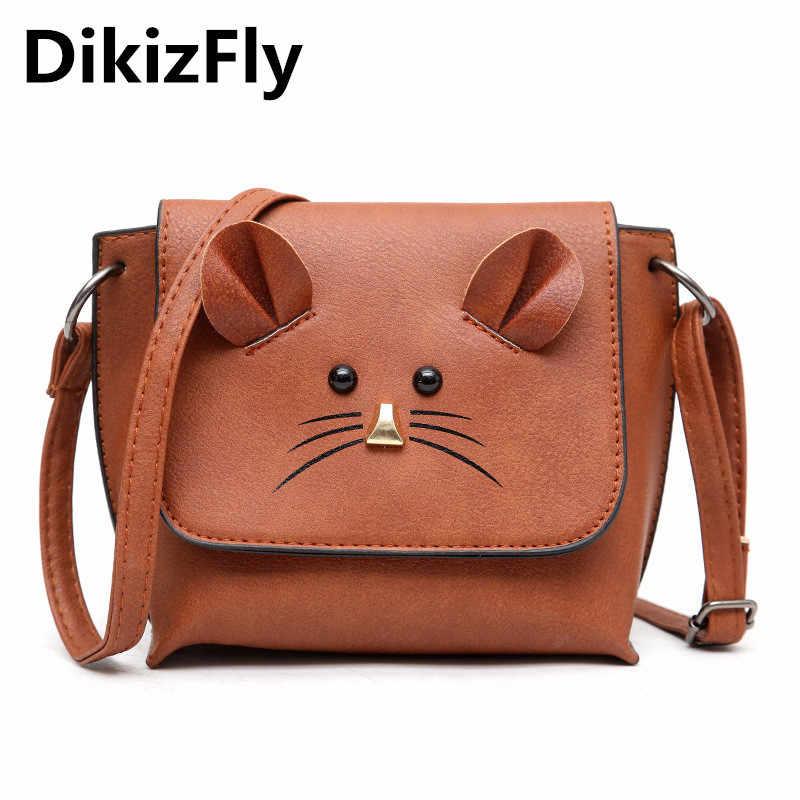012385fea9ae Новая мода мини Для женщин сумки на плечо милый кот сумочки небольшой  кошелек для девушки женские