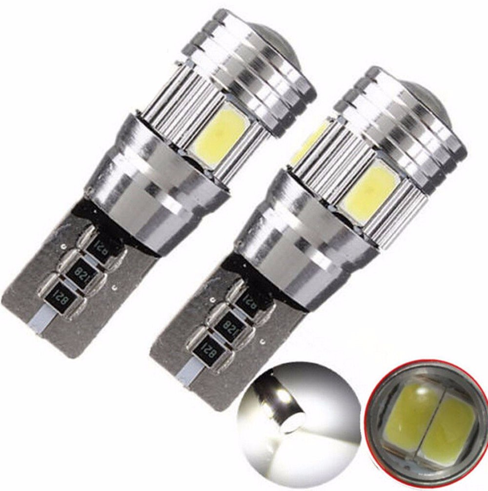 New 2PCS DC 12V T10 501 194 W5W 5630 LED 6 SMD HID CANBUS ERROR FREE Car Side Wedge Light LO3 For BMW For Audi t10 3w 144lm 6 x smd 5630 led error free canbus white light car lamp dc 12v 2 pcs