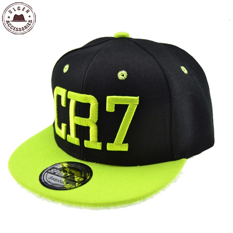 New Cristiano Ronaldo CR7 Black Baseball Caps til barn Boys And Girls kids hip hop Snapback hat