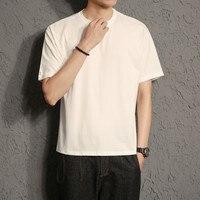 Мужская футболка с коротким рукавом Свободная с круглым вырезом тренд Большой размер Лето Хлопок Жир