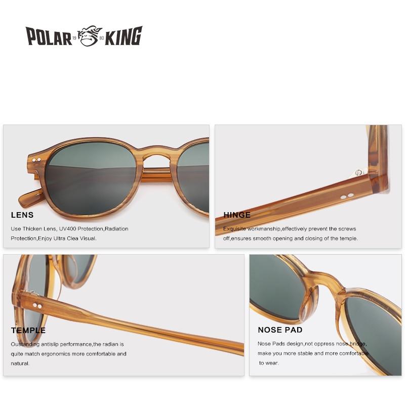 Image 4 - POLARKING Brand Vintage Designer Polarized Sunglasses For Men Traveling Unisex Acetate Round Sun Glasses Driving Eyewear Oculosbrand polarized sunglassespolarized sunglassespolarized sunglasses brand -
