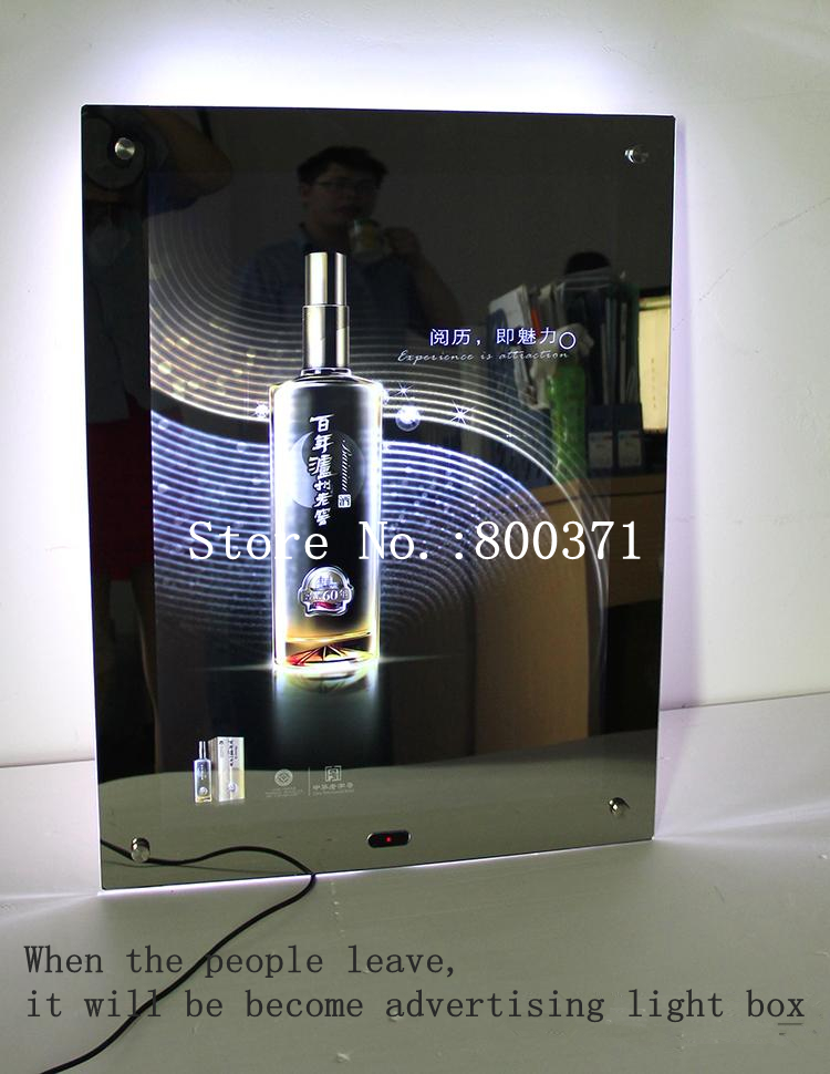 acrylic frame magic mirror led illuminated lighted up movie poster box for movie theatre home